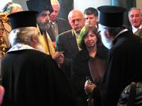 Fedeli nel monastero ortodosso di Halki