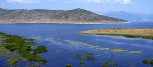 Vista dei laghi di Prespa dal villaggio di Mala Gorica, in Albania (rante_i /Flickr)