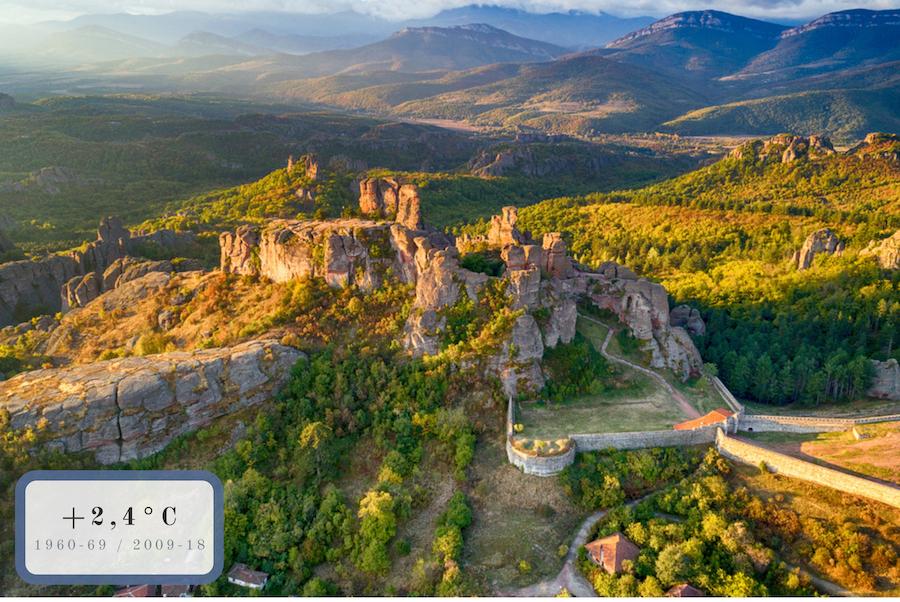 guglie rocciose e mura fortificate