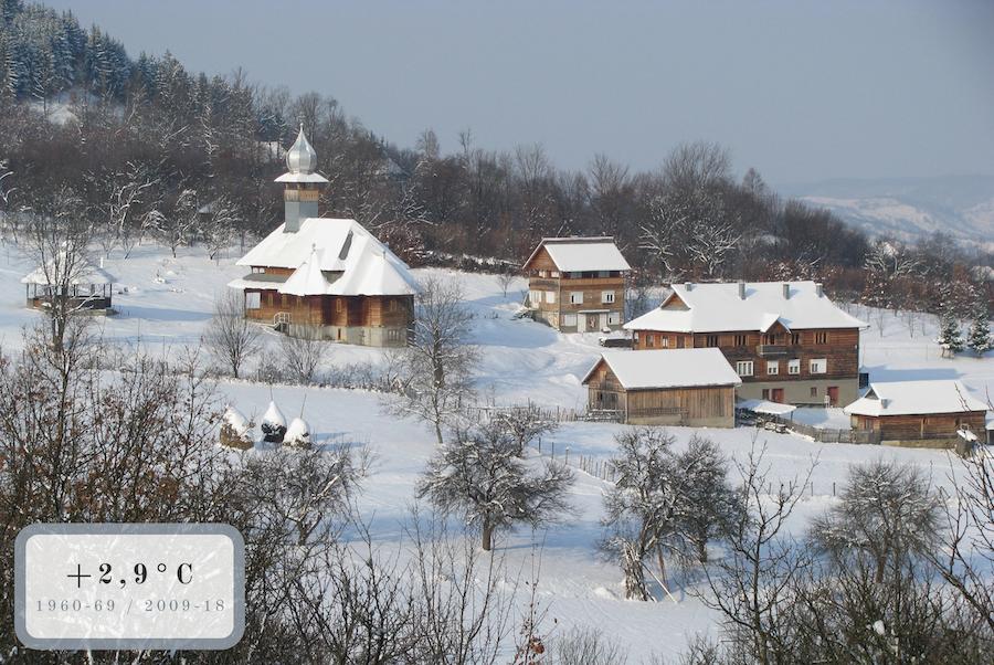 monastero e prati innevati