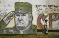 Un graffito raffigurante Mladić