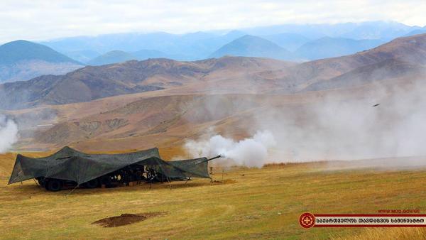 Durante le esercitazioni Agile spirit (foto Ministero della Difesa georgiano)
