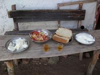 Panchina con formaggi