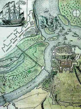 Un'antica mappa di Belgrado