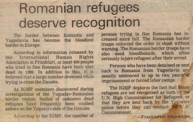 Un articolo della Frankfurter Allgemeine Zeitung (1988)