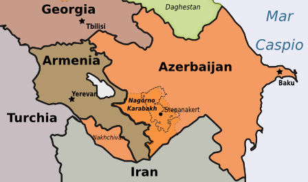 Azerbaijan - mappa di Osservatorio Balcani e Caucaso