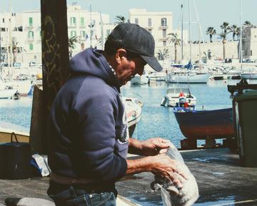 Pescatore di Bari, foto di Diego Calabrese