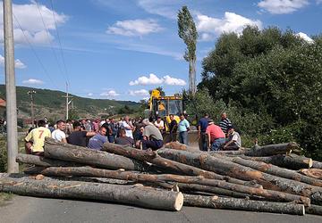 Barricades in Zubin Potok (Foto Tatjana Lazarević)