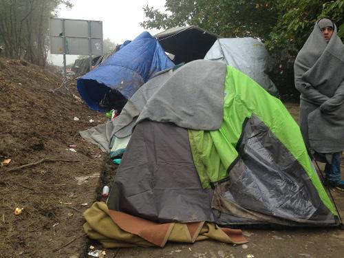 Berkasovo, i tendoni a ridosso del confine con la Croazia (Foto AOR)