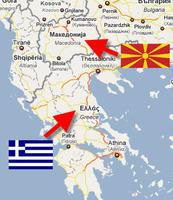Grecia e repubblica di Macedonia, la mappa