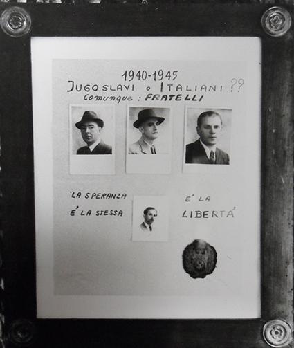 Cartello affisso durante l'incontro italo-jugoslavo del settembre 1970 a Garessio. Fonte: Archivio storico del comune di Garessio