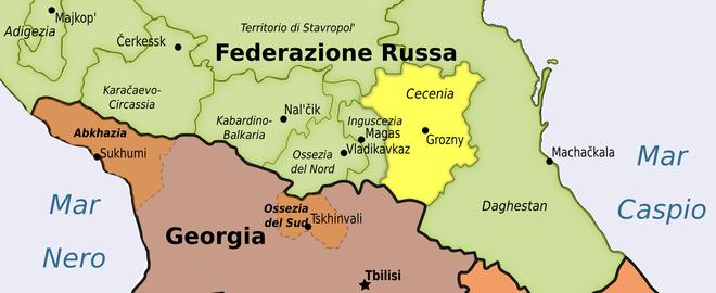 Mappa Caucaso Cecenia