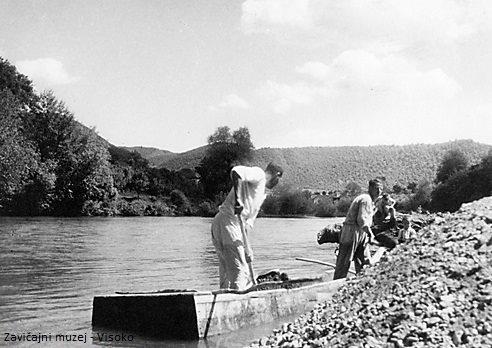 Šljunkari na Fojnici, Visoko tridesetih godina 20. vijeka - Fotografija ing. Milenka Gavrilovića