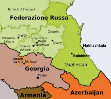 Daghestan, in evidenza Makhachkala e Balakhani - mappa di Osservatorio Balcani e Caucaso