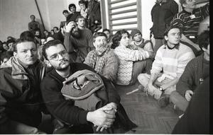 Dicembre 1992, assemblea dei pacifisti italiani a Kiseljak (Foto Mario Boccia)