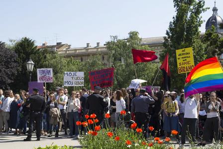 Zagabria, Diritto alla scelta (foto G. Vale)