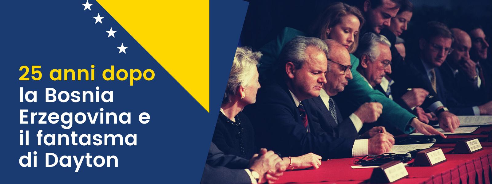 25 anni dal trattato di Dayton. La firma dei presidenti Slobodan Milosevic, Alija Izetbegovic e Franjo Tudjman