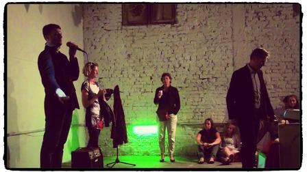 Un evento nell'ex sede del Tirana Ekspress