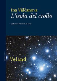 """La copertina del libro """"L'isola del crollo"""" raffigurante un cielo stellato"""