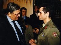 Fabio Maniscalco e Ministro Difesa Andreatta