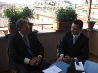 Intervista al presidente della Repubblica ad interim della Moldavia, Mihai Ghimpu, in visita in Italia