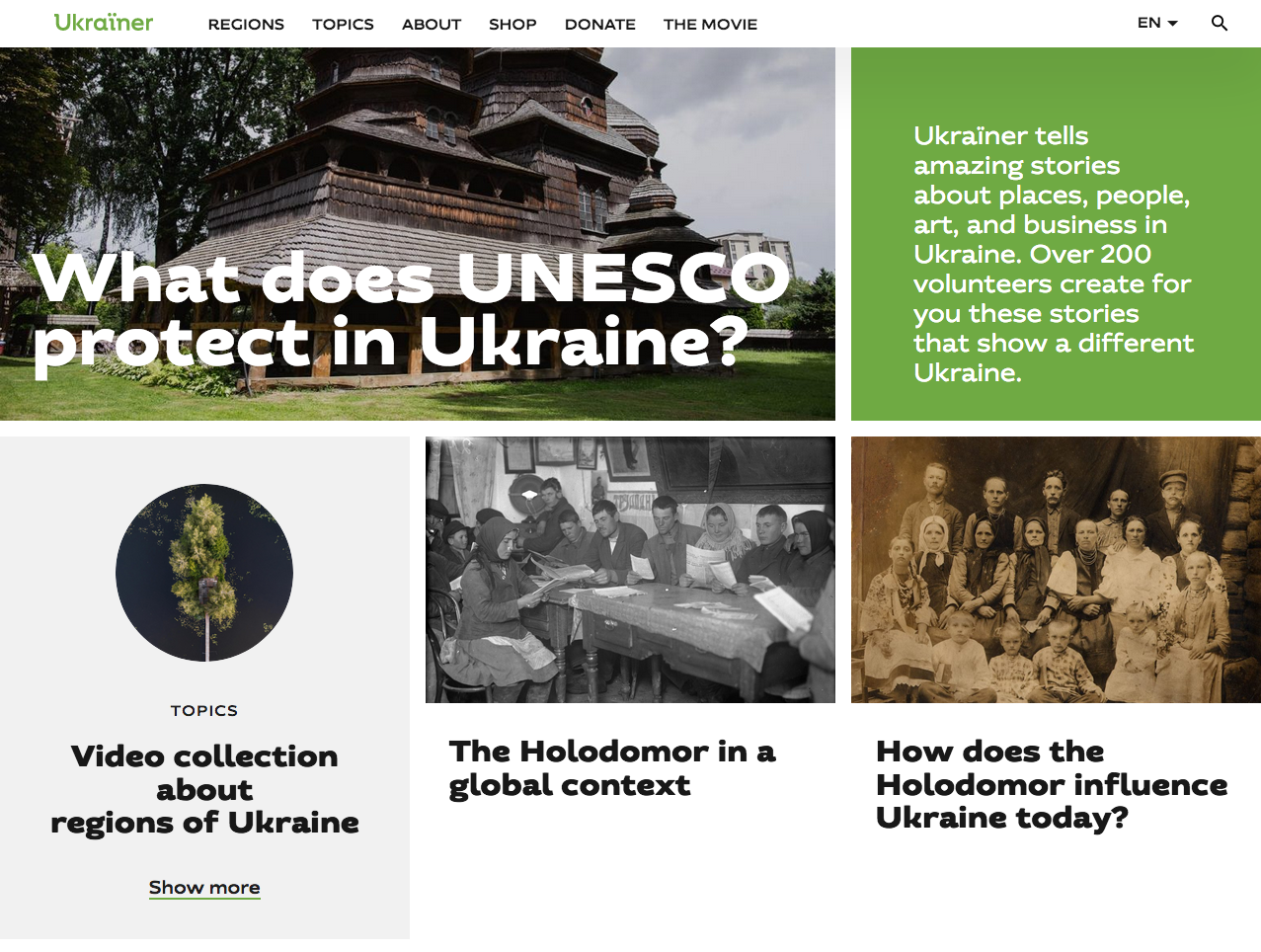 Homepage di Ukrainer.net