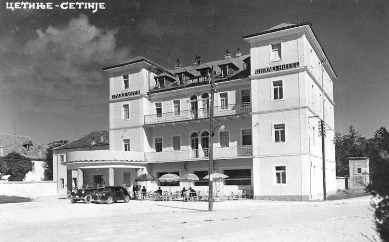 Il Grand Hotel di Cetinje, cartolina