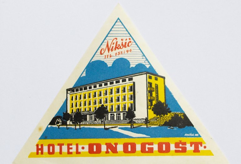 L'Hotel Onogošt raffigurato in una pubblicità dell'epoca
