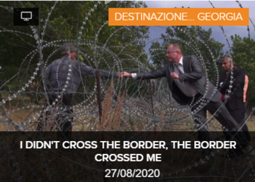 I DIDN'T CROSS THE BORDER, THE BORDER CROSSED ME
