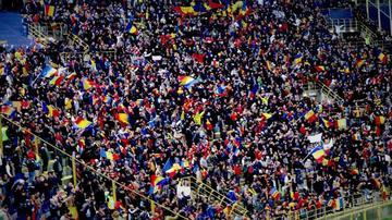 I tifosi della Romania - foto Nicola Pedrazzi