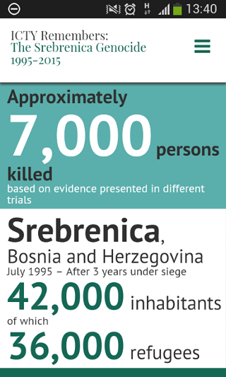 ICTY Remembers  The Srebrenica Genocide  1995 - 2015