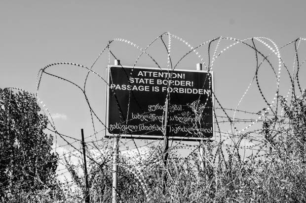 """Il """"confine di stato"""" -  foto Matteo Zola"""