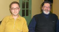 Il direttore di A1+ Movsesyan e il giornalista Paskevichyan (Foto I. Santin)