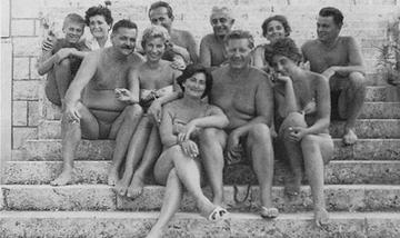 Il gruppo di Praxis a Korcula negli anni '60