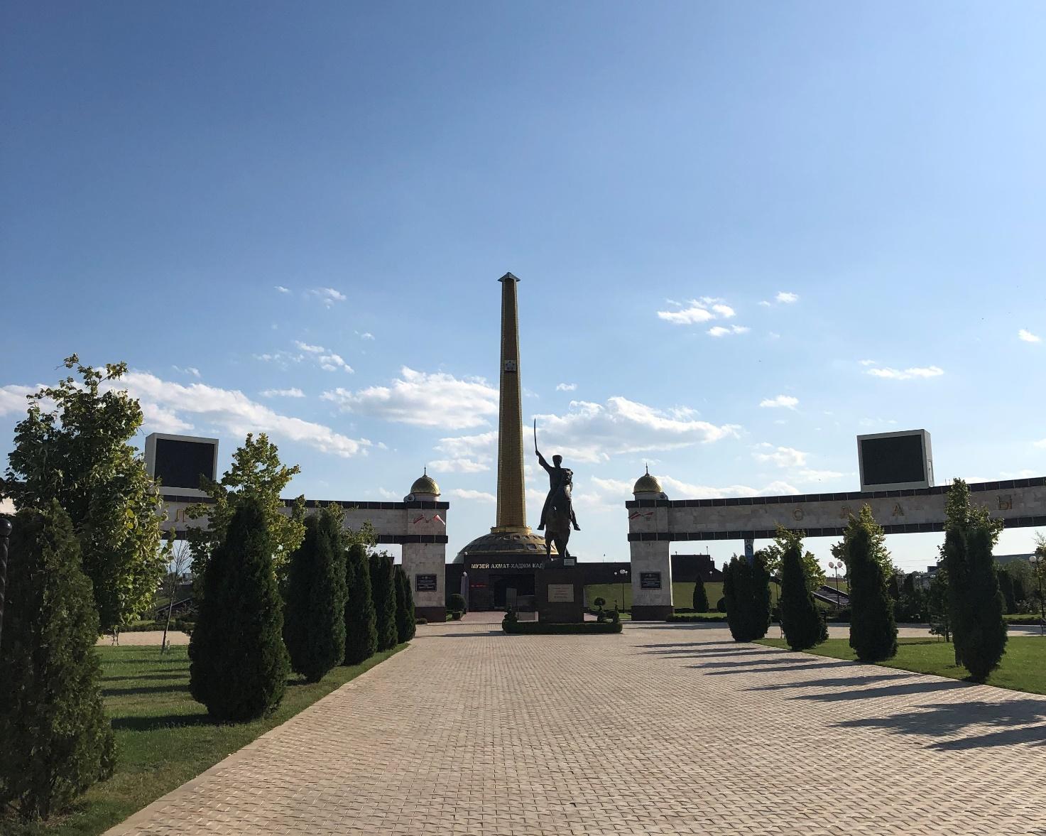 Il museo Akhmat Kadyrov, il presidente ucciso in un attentato il 9 maggio 2004.