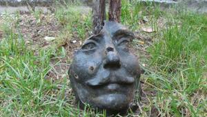 Il volto della statua di Šantić