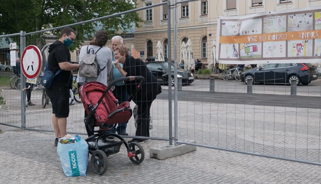 """Image from the documentary """"GO-VID When the border reappears"""" by directors and authors from Gorizia Sara Terpin and Carlo Ghio, founders of the portal  www.slovely.eu"""
