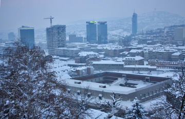 L'area crollata a Skenderija (Foto Michele Biava)