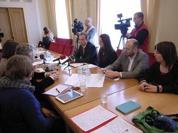 L'incontro con Sobolyev e Hopko (foto P. Bergamaschi)