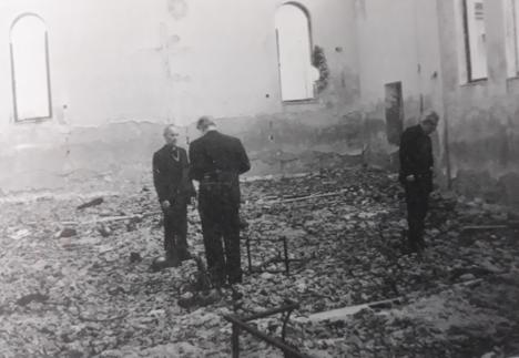 La chiesa di Briševo distrutta - Archivio personale di Ivo Atlija e Frano Piplović