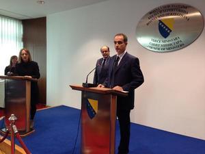 La presentazione del Mese della Cultura italiana questa mattina a Sarajevo (Foto AOR)