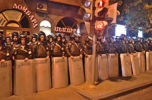 La recente manifestazione su Electric Yerevan (Foto Simone Zoppellaro)