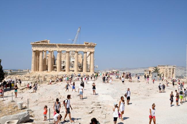 La spianata dell'Acropoli - foto F:Polacco