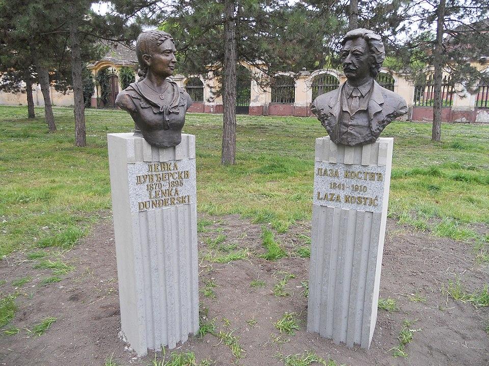 Spomenik Laze i Lenke (fotka Vcesnak/wikimedia)