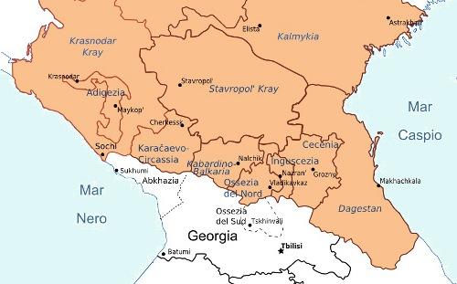 Mappa Caucaso - BalcaniCaucaso.org