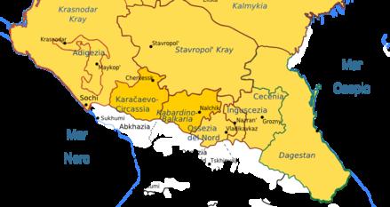 mappa Caucaso