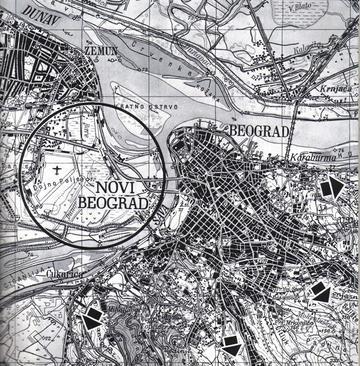 Mappa di Novi Beograd nel 1961