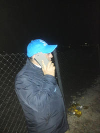 Mohammad Arifi, rappresentante UNHCR in Macedonia - Tabanovce 23 febbraio (foto Simone Ginzburg)