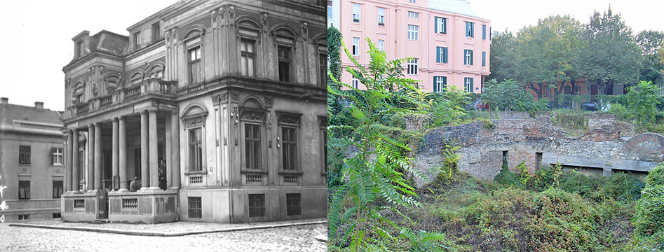 La biblioteca com'era fino al 1941 e come è adesso quello spazio