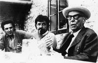1974 Pocitelj - Edo (da sin.) Numankadić, Zuko Džumhur, Ivo Andrić